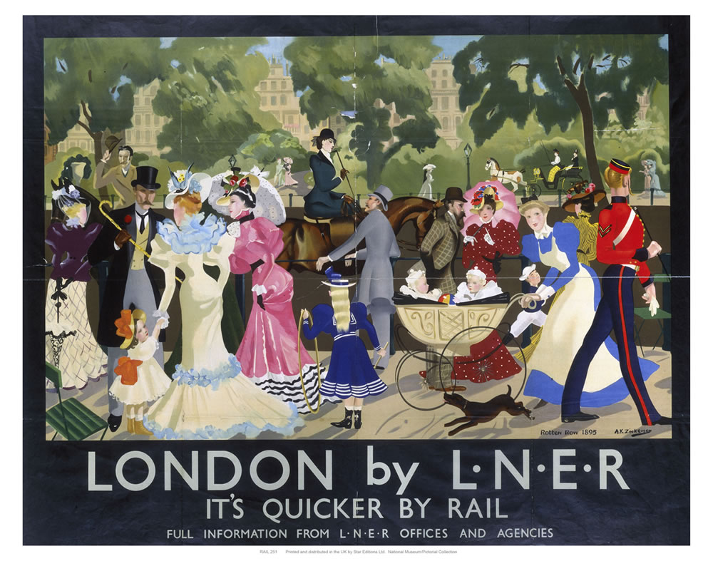 London by L.N.E.R Park Art Print  Art Print