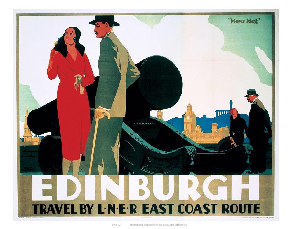 Edinburgh Couple by Cannon Art Print