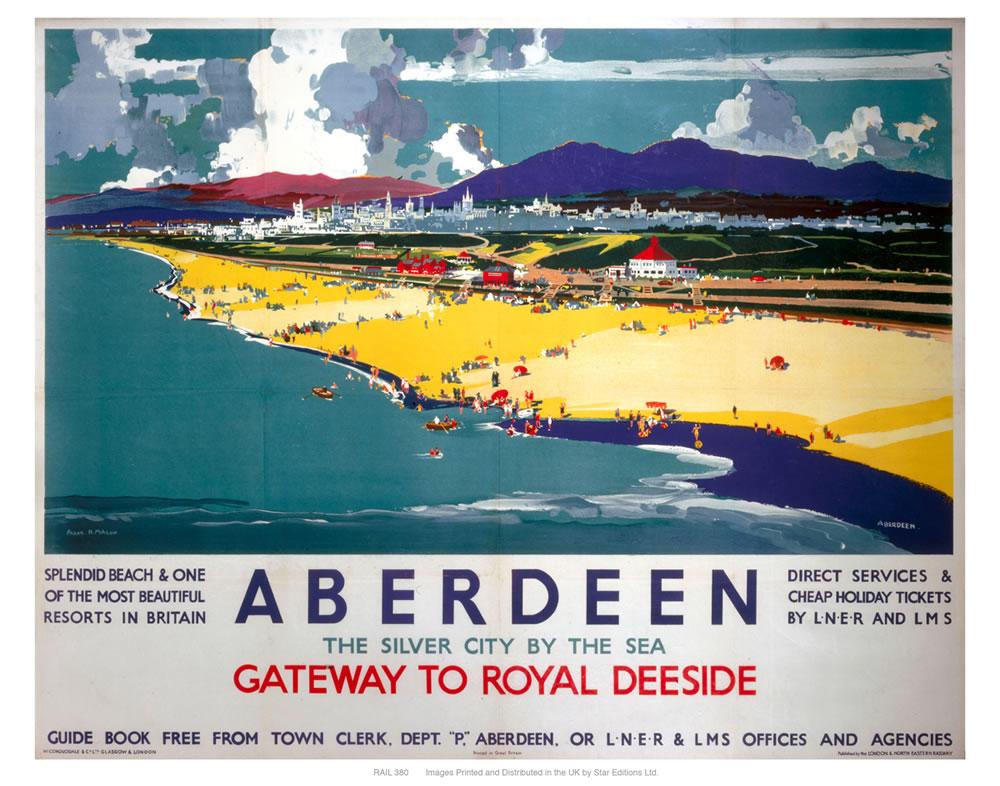 Aberdeen by the sea Art Print
