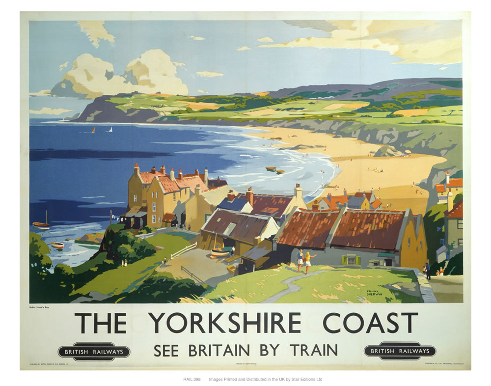 The Yorkshire coast 2 Art Print  Art Print