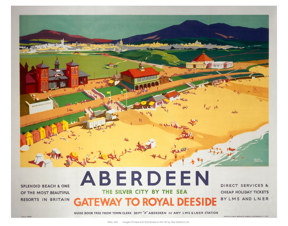 Aberdeen, by the sea Art Print  Art Print