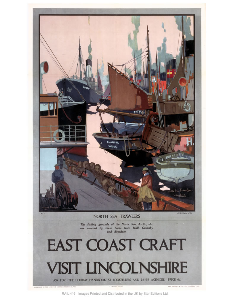 East coast craft, Lincolnshire Art Print  Art Print