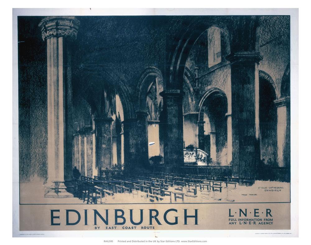 Edinburgh by east coast - St Giles Cathedral Art Print