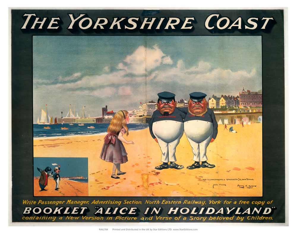 Alice in Holidayland - The Yorkshire coast Art Print  Art Print