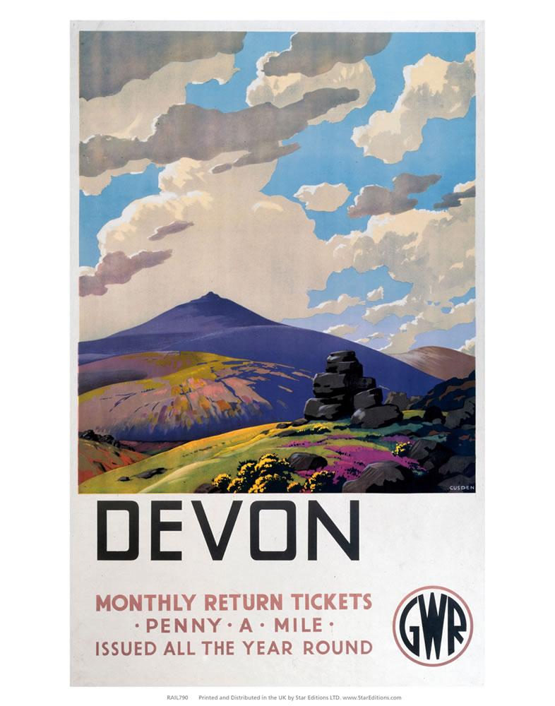 Devon - Monthly returns penny-a-mile Art Print