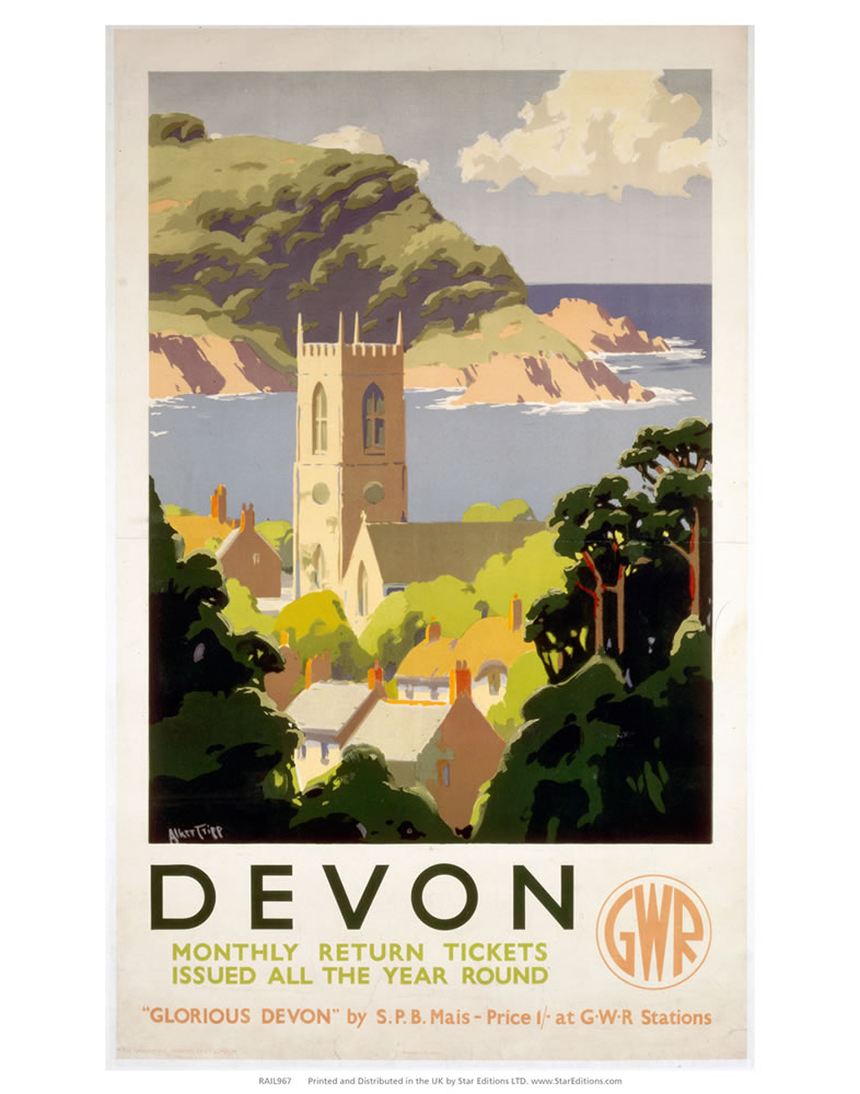 Devon - Glorious Devon GWR Art Print  Art Print