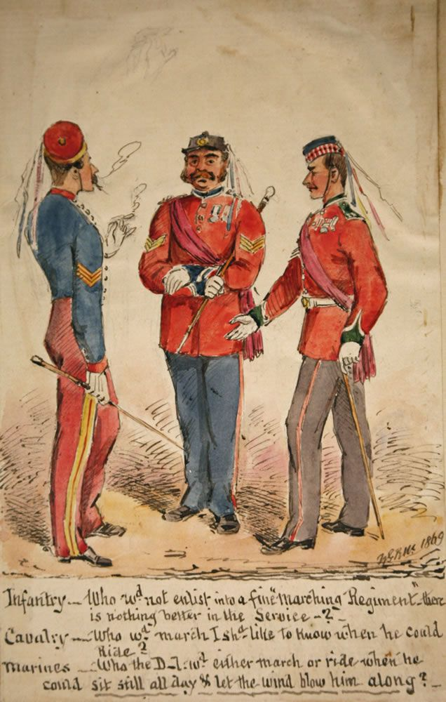 Infantry, Cavalry and Marines Discussion 1869 Art Print