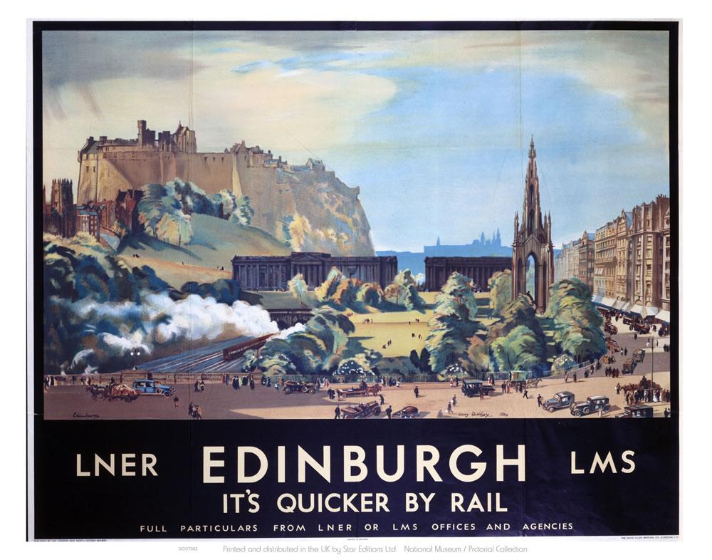 Edinburgh Railway Poster Art Print