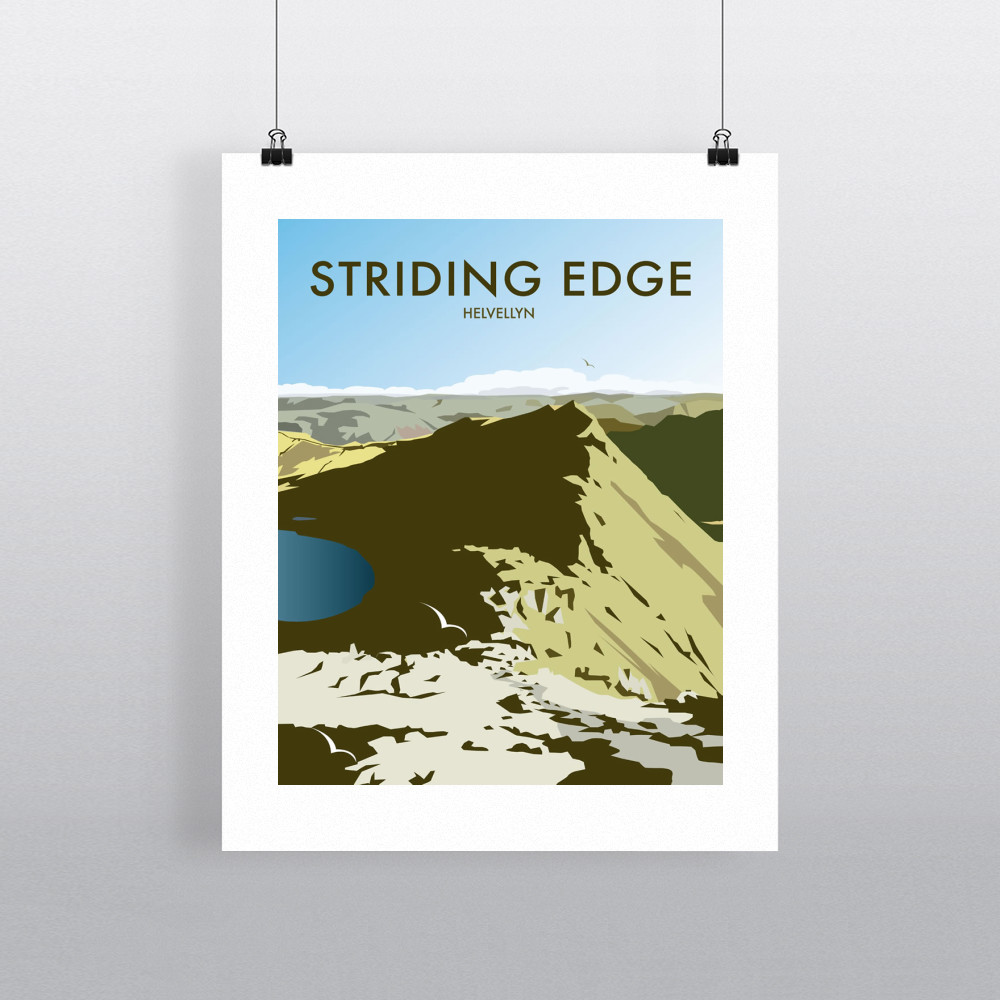 Helvellyn Edge, Lake District Art Print