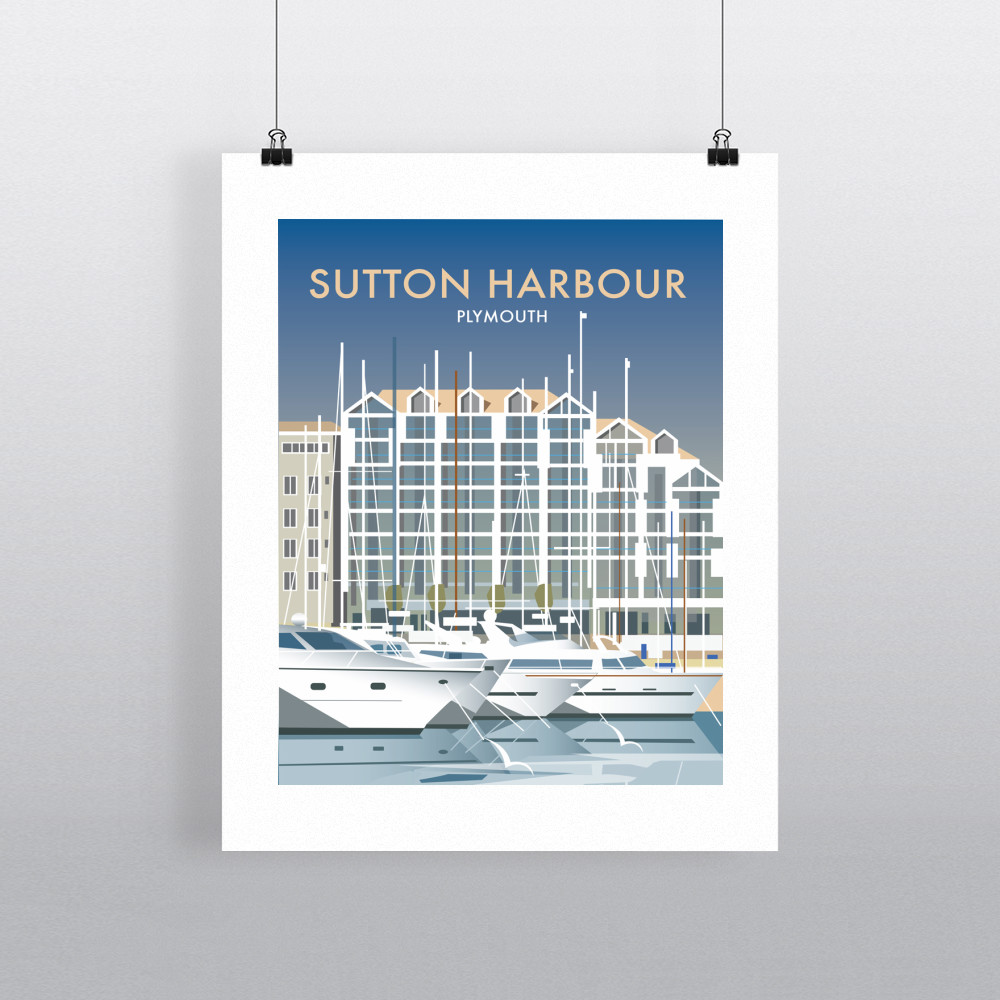 Sutton Harbour Art Print