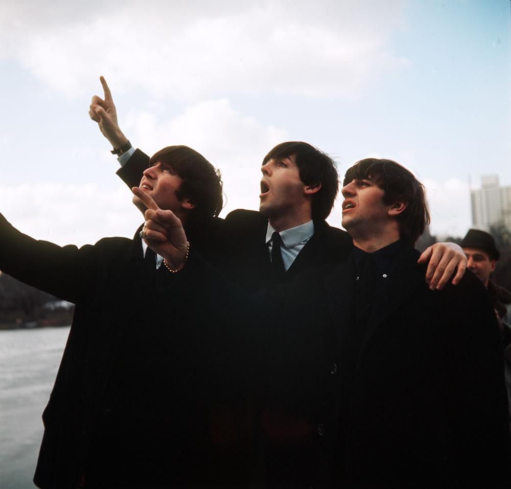 Beatles Paul McCartney and Ringo Starr.. Art Print