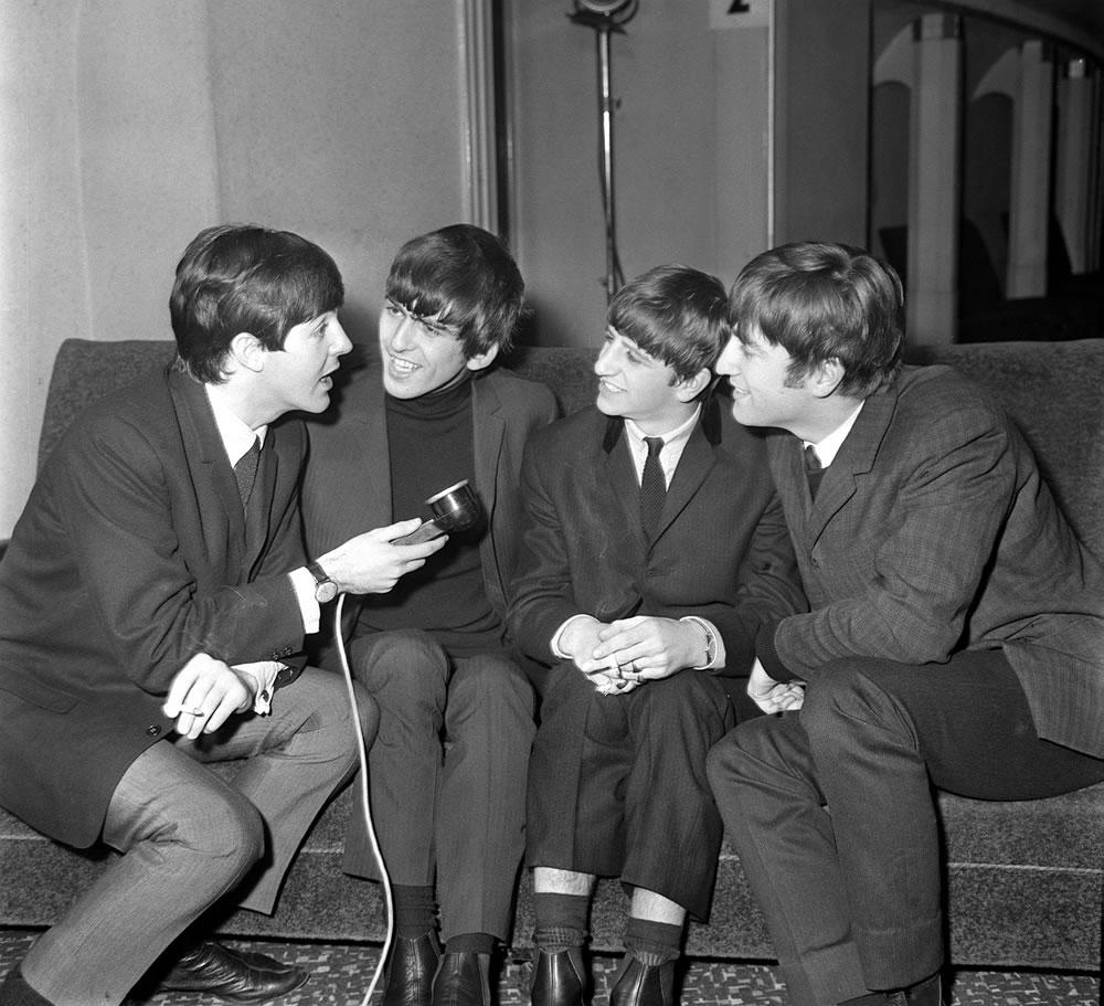 Pop Group The Beatles November 1963.. Art Print