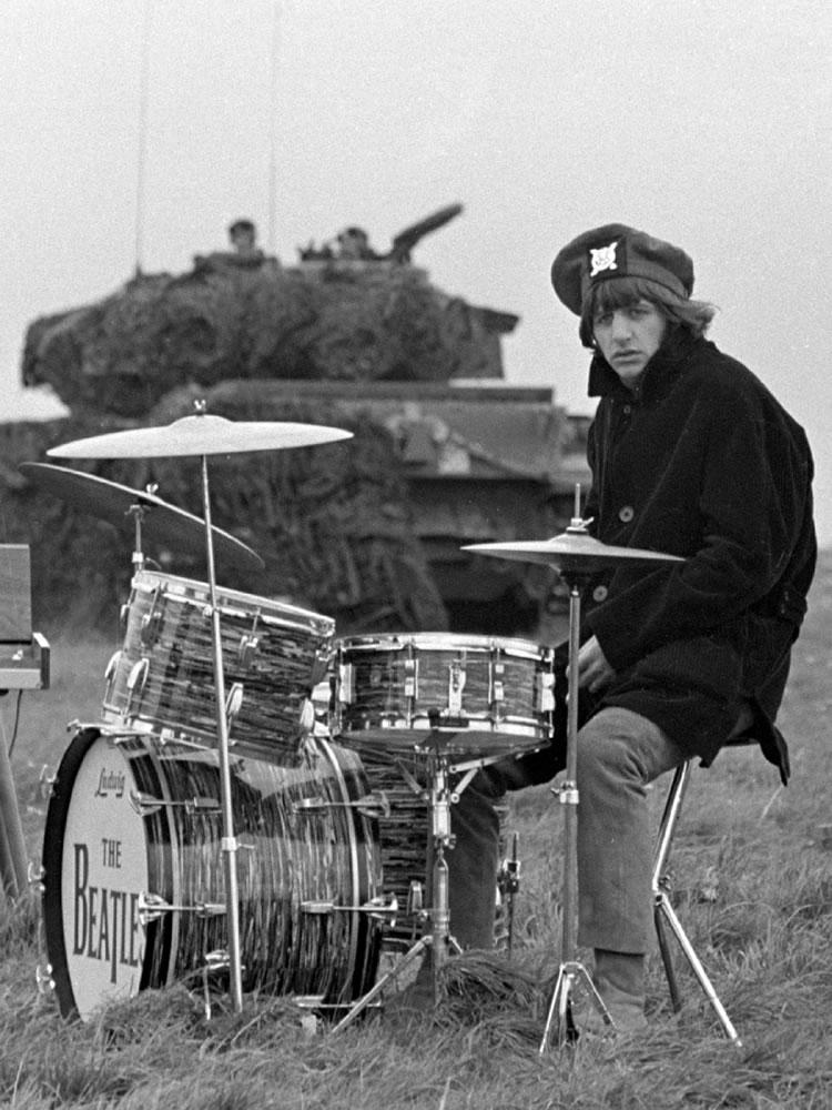 Beatles drummer Ringo Starr during the.. Art Print