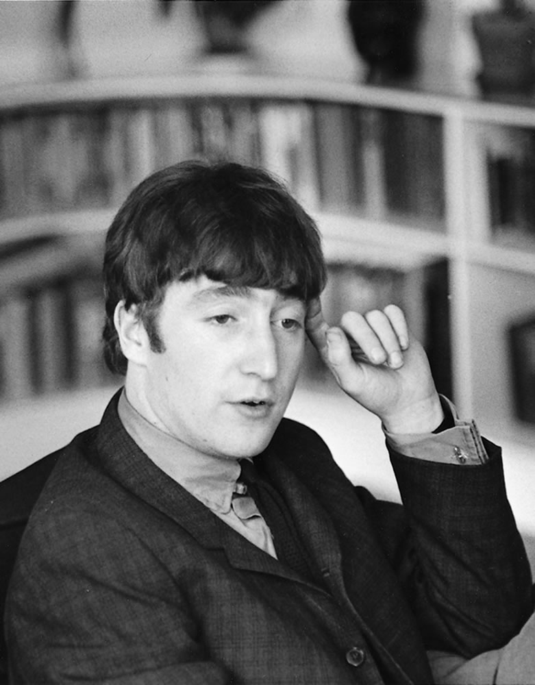 The Beatles: 1963 John Lennon at home.. Art Print
