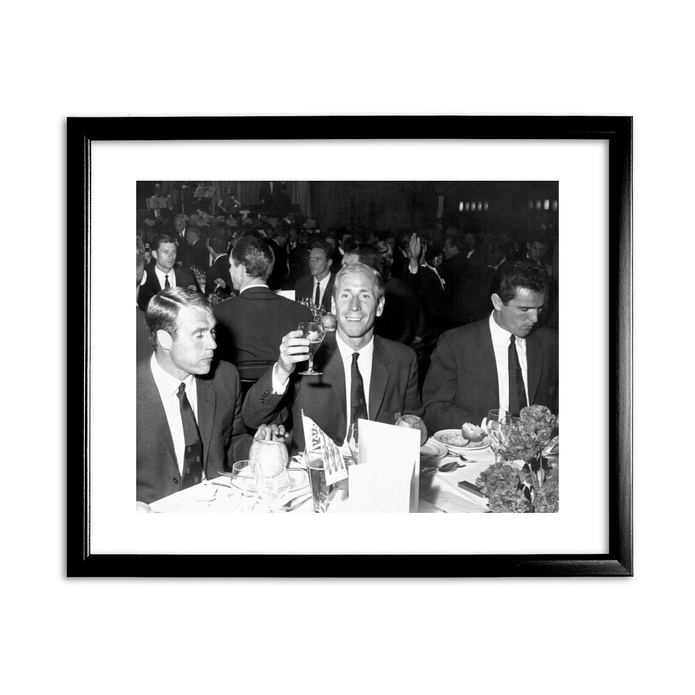 1966 World Cup celebration dinner Black Framed Art Print