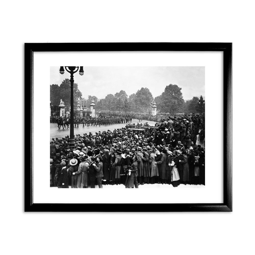 1919 Victory Parade in London - Black Framed Print Black Framed Art Print