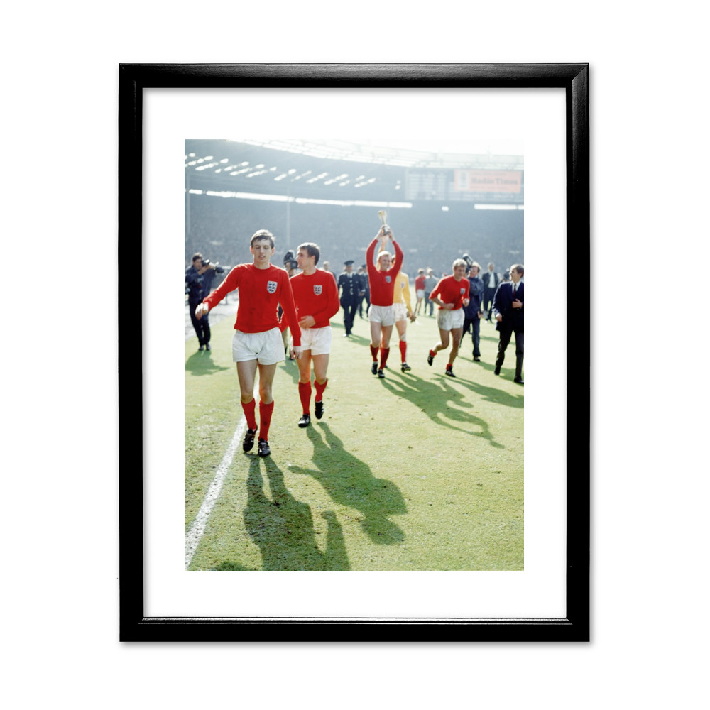 1966 World Cup Final Black Framed Art Print