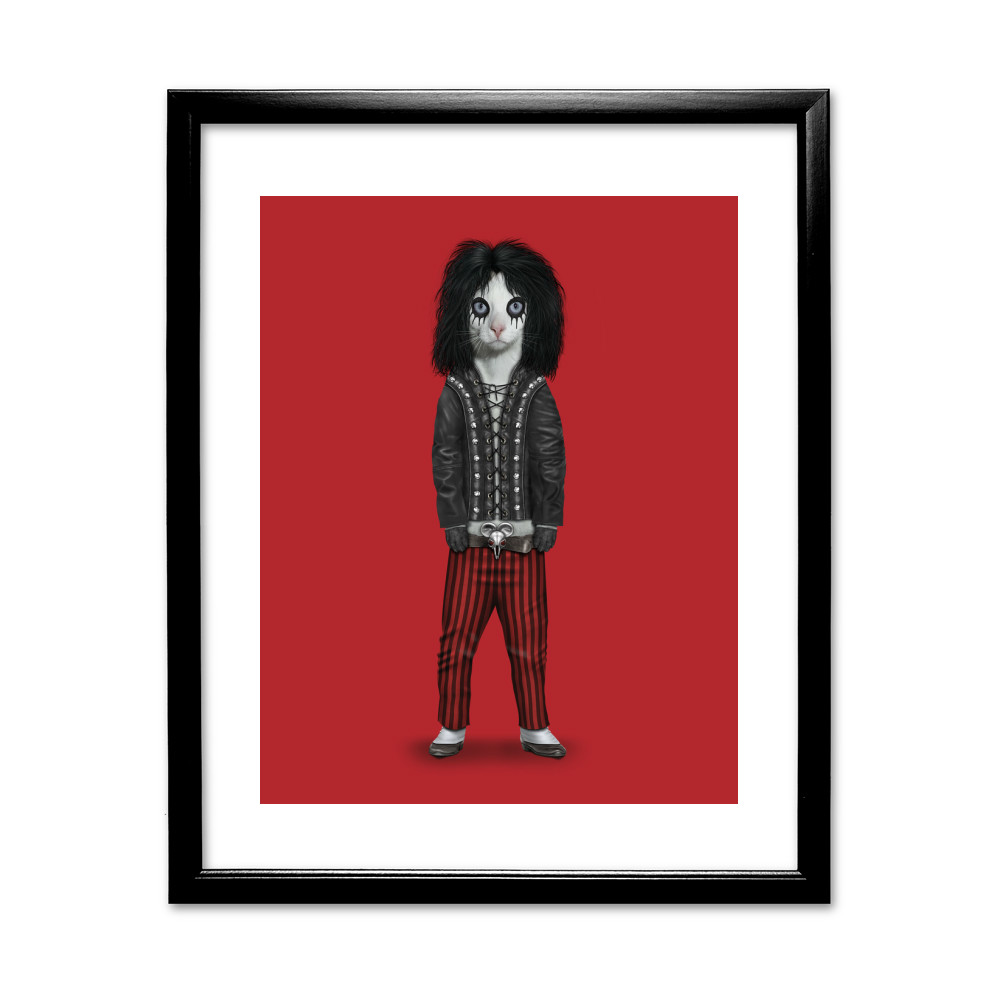 Shock Rock Pets Rock 11' by 14' Black Framed Art Print