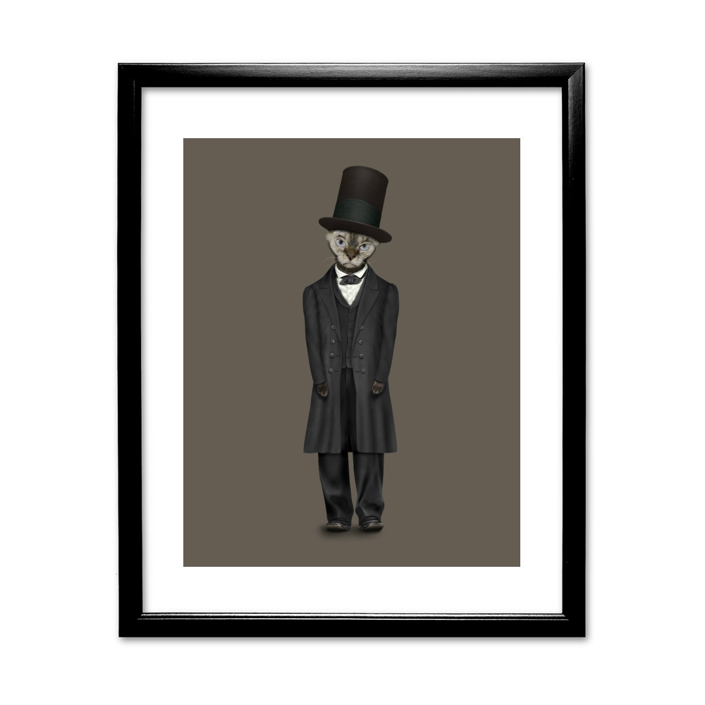 Lincoln Pets Rock 11' by 14' Black Framed Art Print