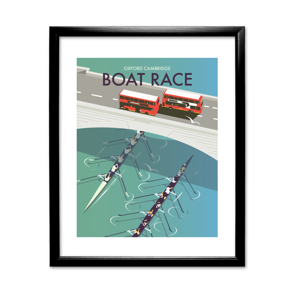 Boat Race Black Framed Print