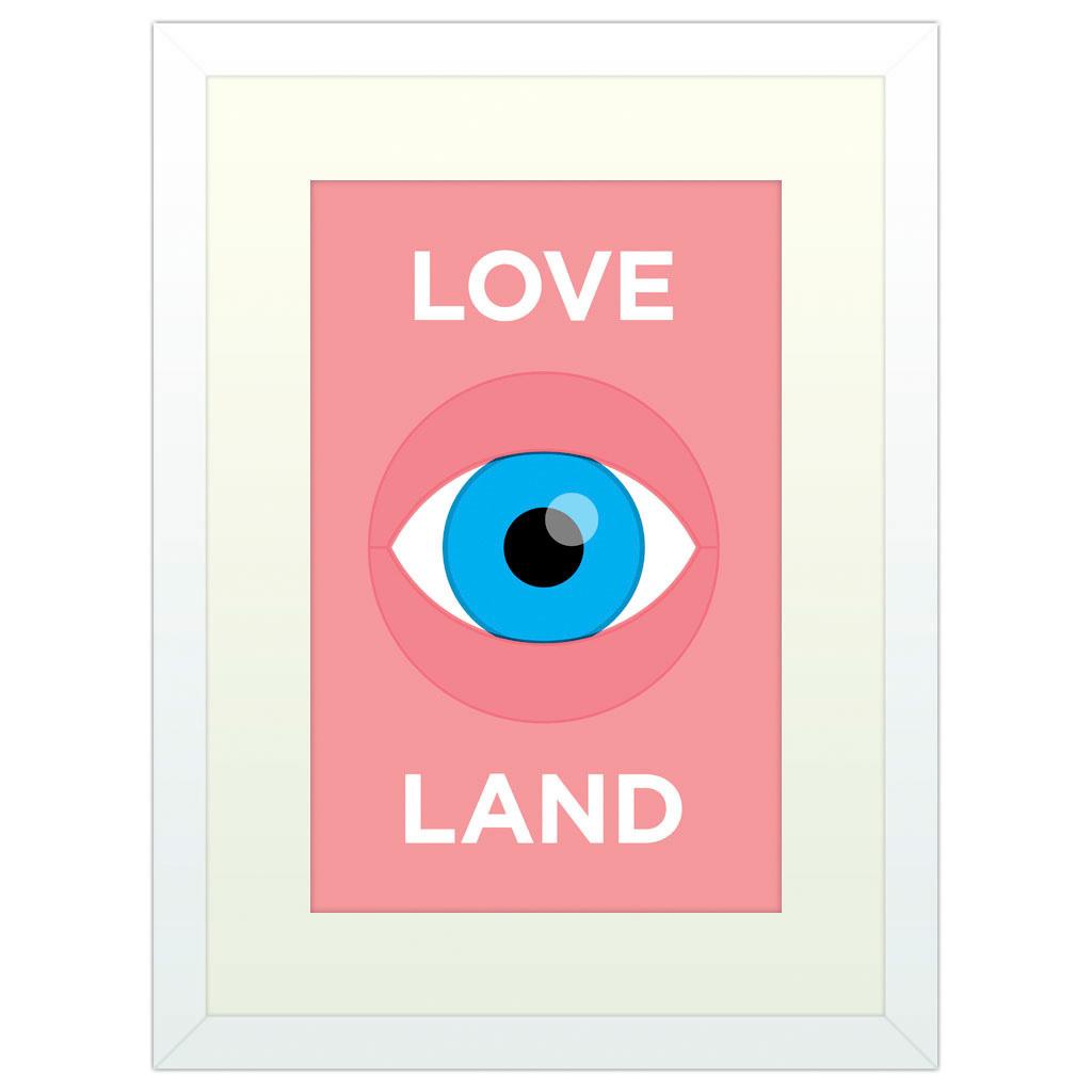 Love Island - White Framed Art Print (40x30cm) White Framed Art Print