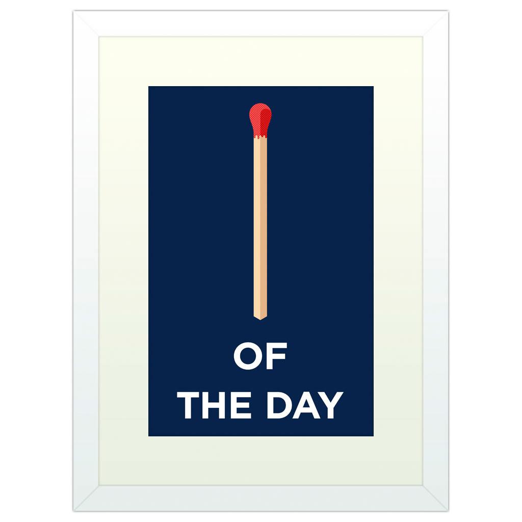 Match of the Day - White Framed Art Print (40x30cm) White Framed Art Print