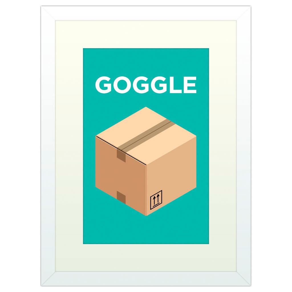 Goggle Box - White Framed Art Print (40x30cm) White Framed Art Print