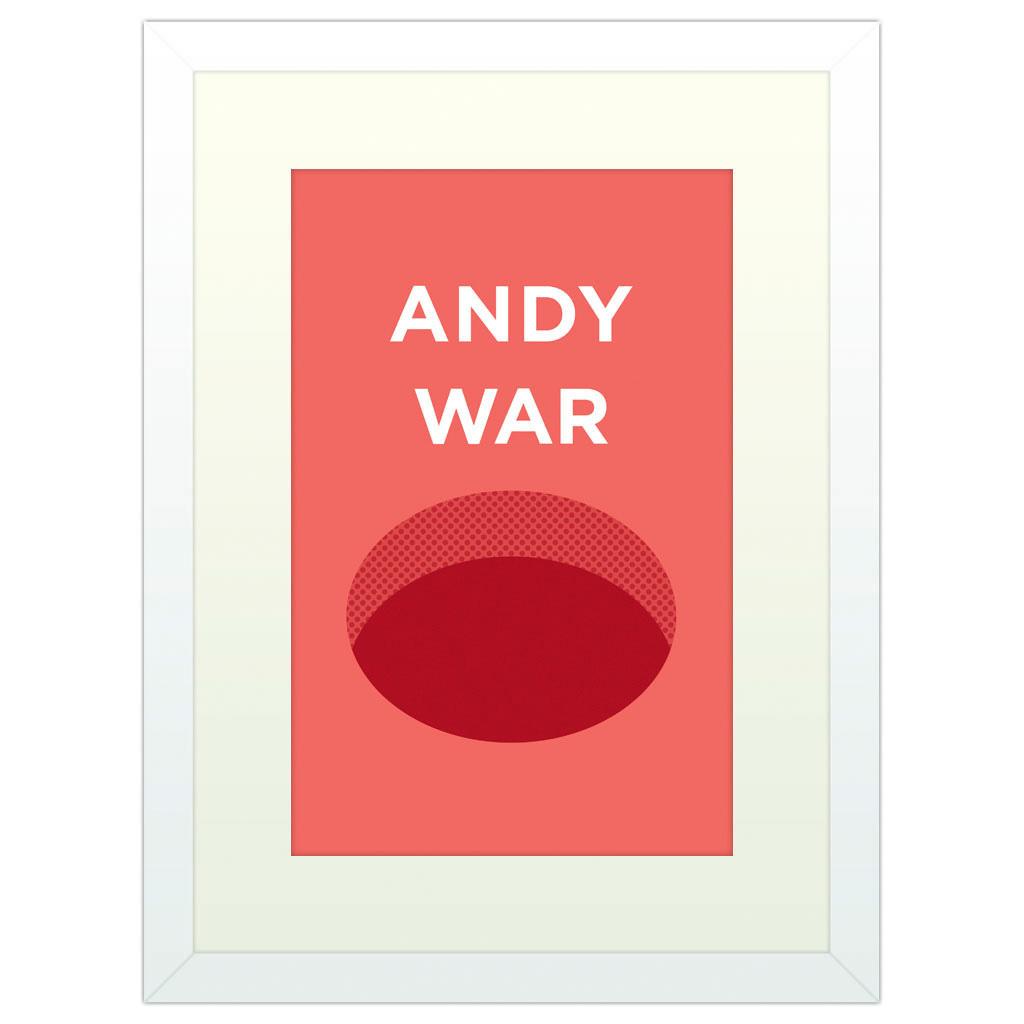 Andy Warhol - White Framed Art Print (40x30cm) White Framed Art Print
