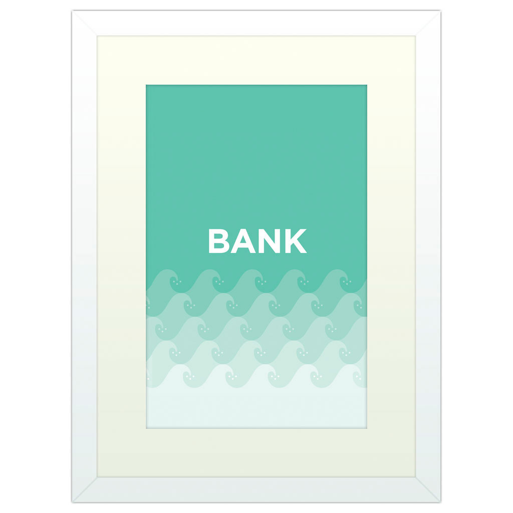 Banksy - White Framed Art Print (40x30cm) White Framed Art Print
