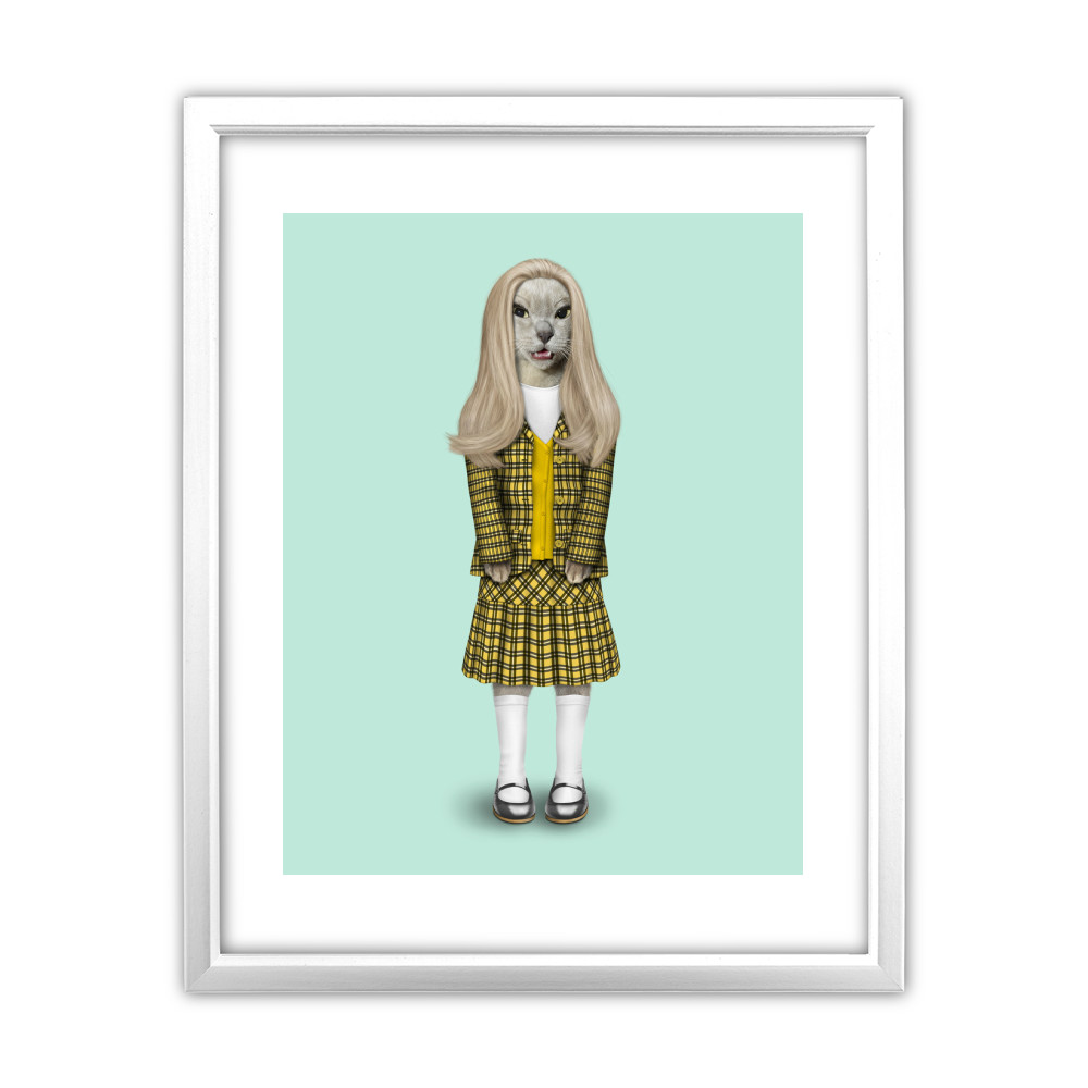 High School Pets Rock 11' by 14' White Framed Art Print