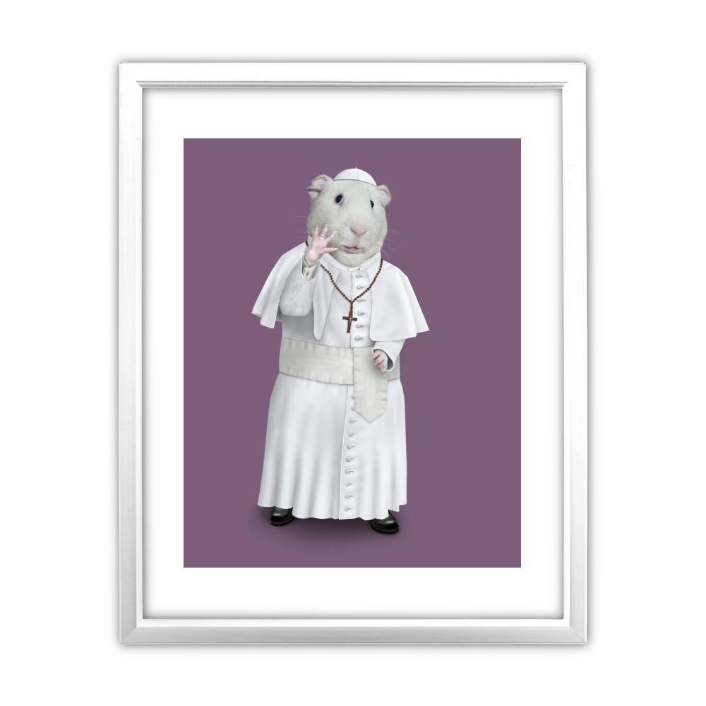 Church Pets Rock 11' by 14' White Framed Art Print