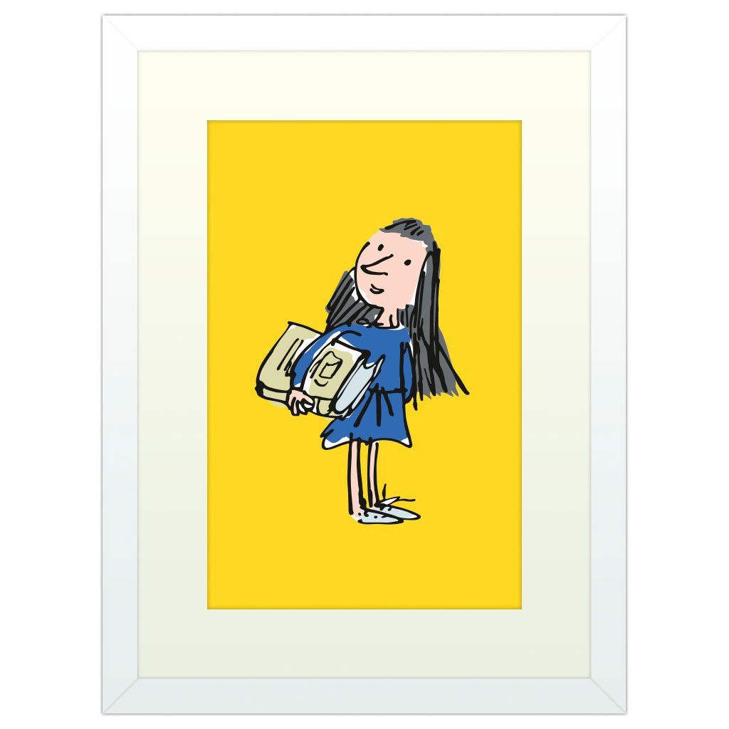 Yellow Matilda - White Framed Art Print (40x30cm) White Framed Art Print