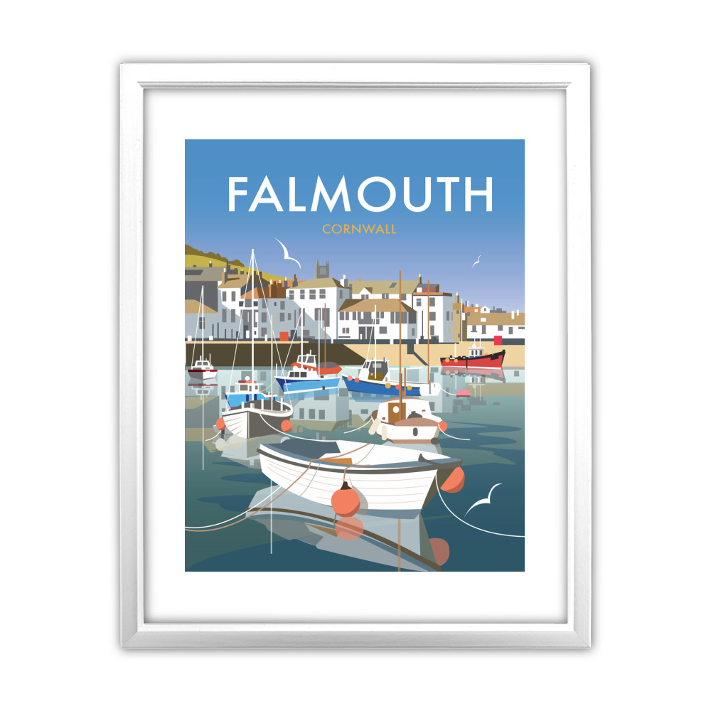 Falmouth White Framed Print