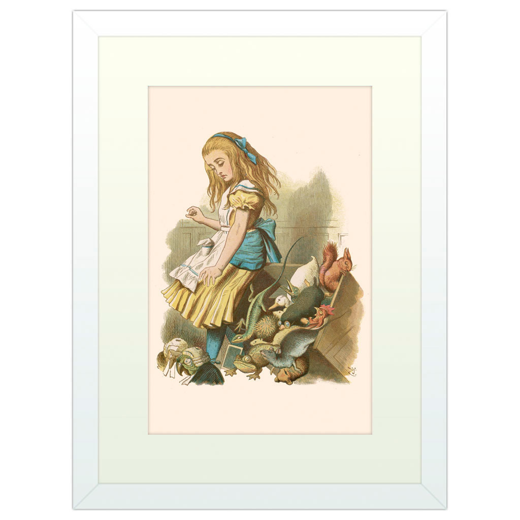 Alice's Adventures in Wonderland - White Framed Art Print (40x30cm) White Framed Art Print