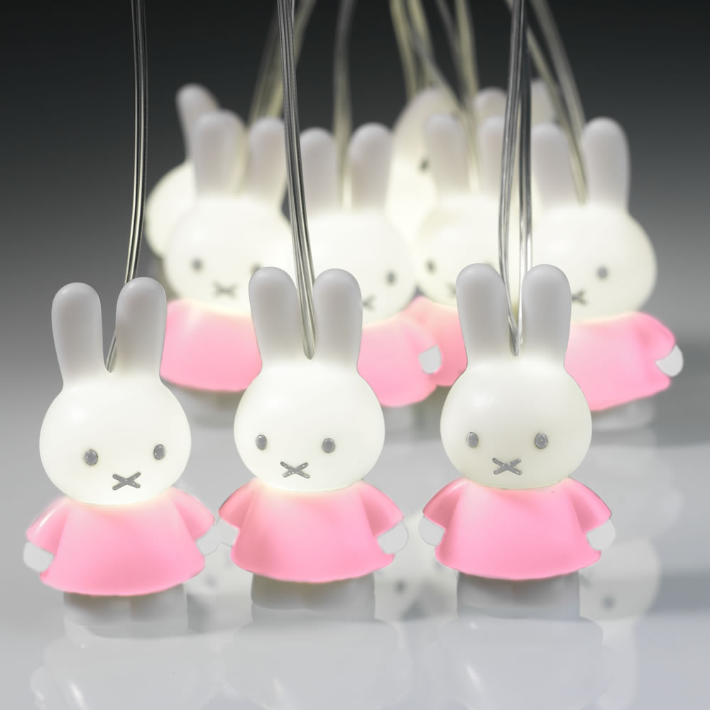 Miffy String 'Fairy' lights (Pink)