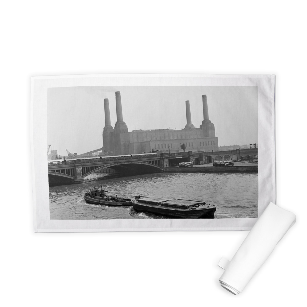 Battersea Power Station, London, 25th.. Tea Towel