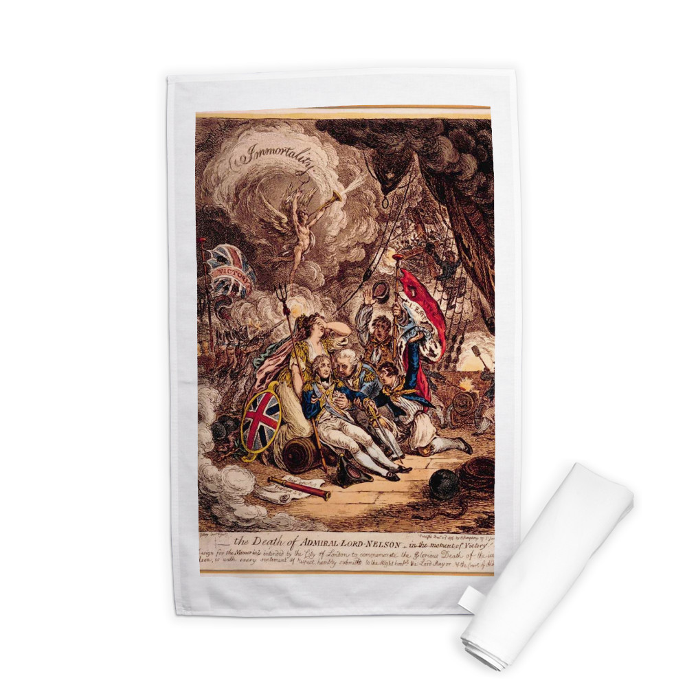 Death of Admiral Lord Nelson in the Moment of Victory Tea Towel