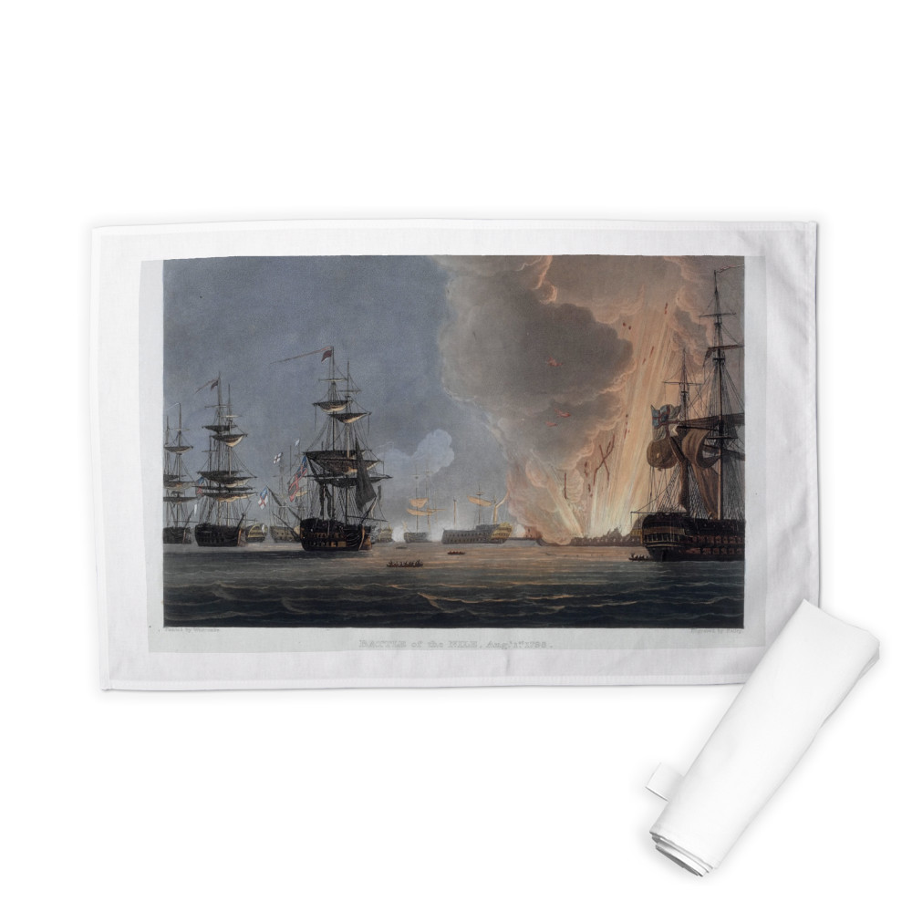 Battle of the Nile, August 1798 Tea Towel