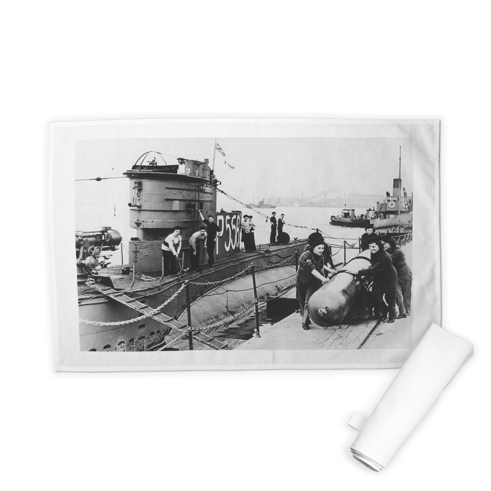 WRNS Torpedo Working Party at HMS Dolphin Tea Towel
