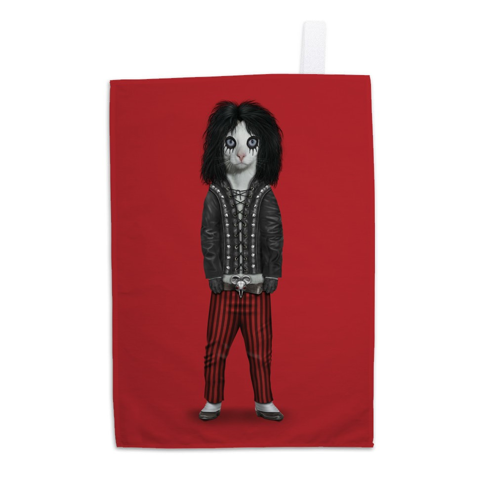 Shock Rock Pets Rock Tea Towel