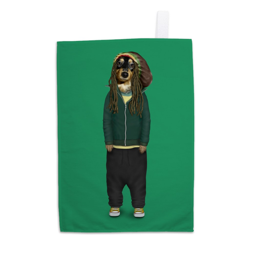 Reggae Pets Rock Tea Towel