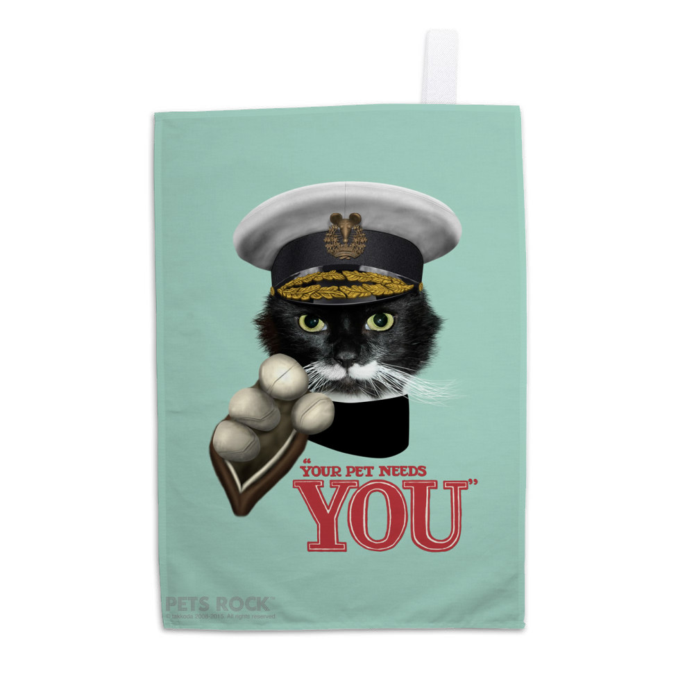 Kitchener Pets Rock Tea Towel