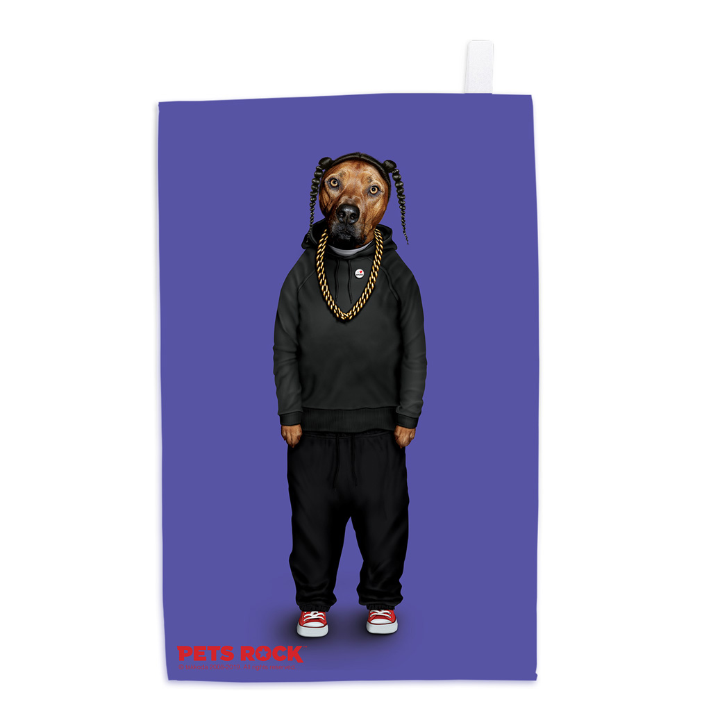 Rap Pets Rock Tea Towel