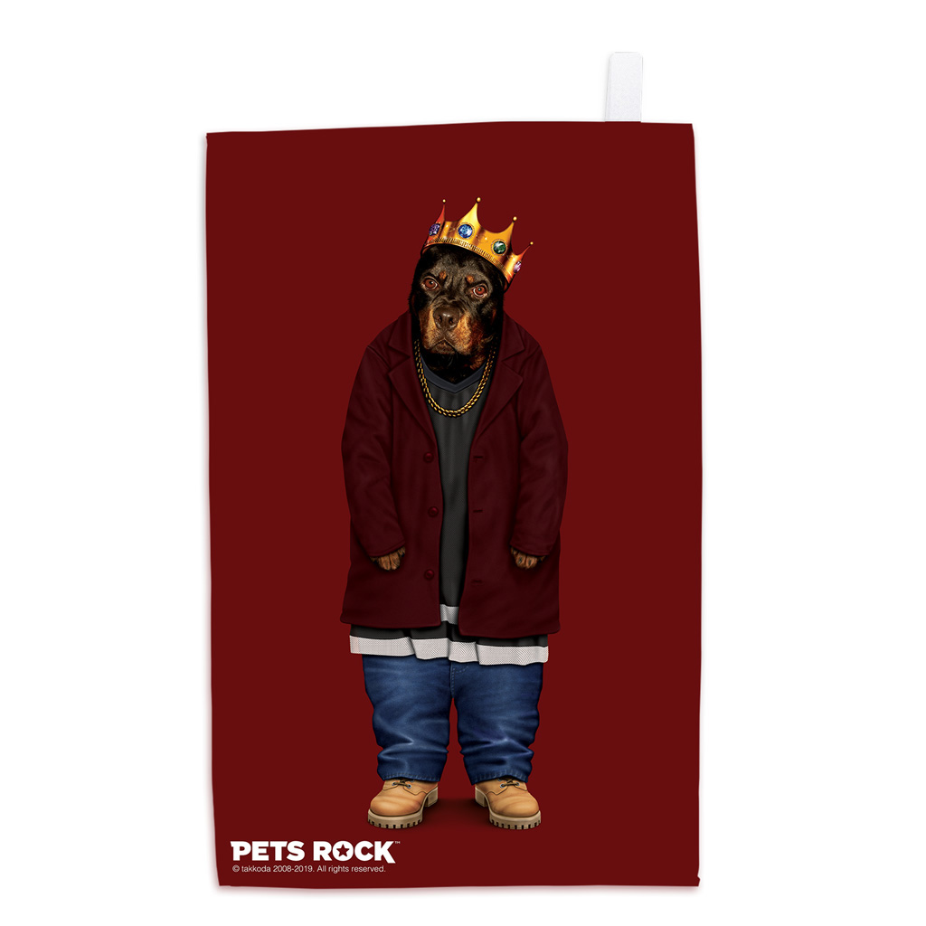 Big Doggie Pets Rock Tea Towel