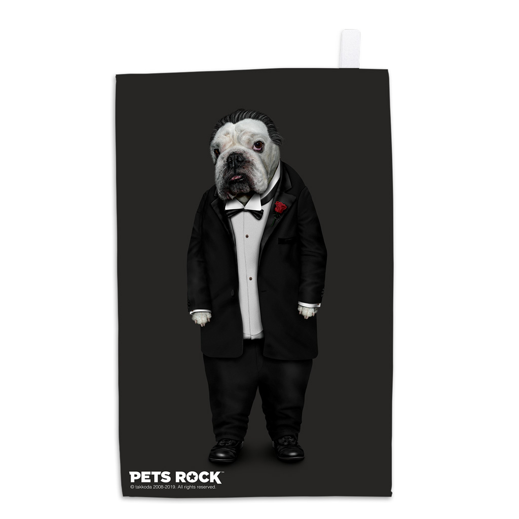 Dog Father Pets Rock Tea Towel