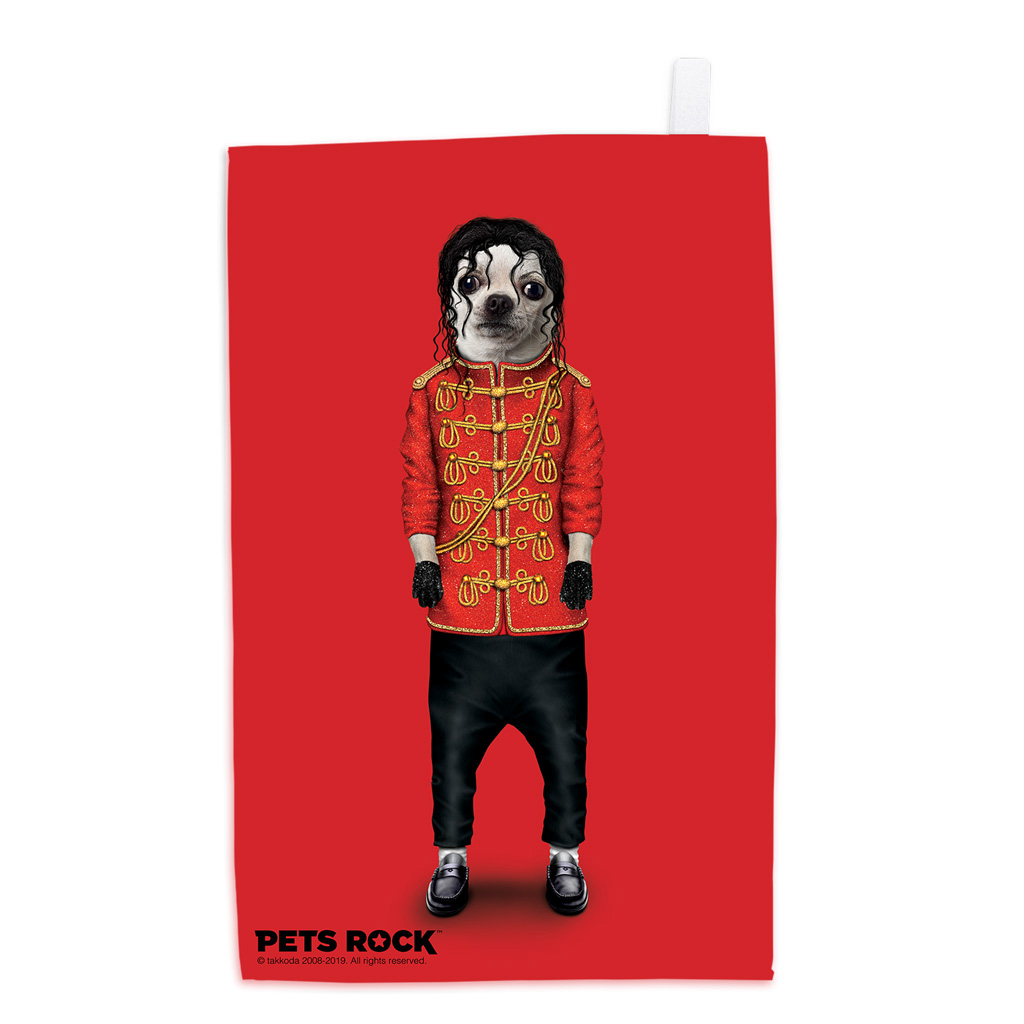 Pop Pets Rock Tea Towel