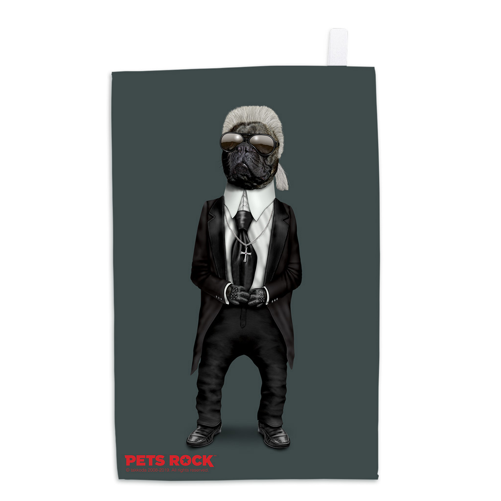 Fashion Pets Rock Tea Towel
