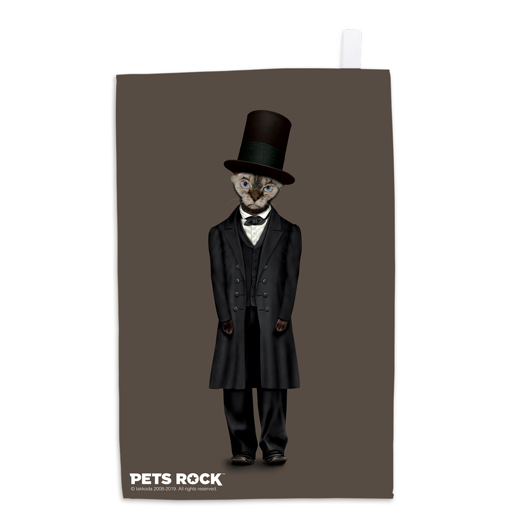 Lincoln Pets Rock Tea Towel