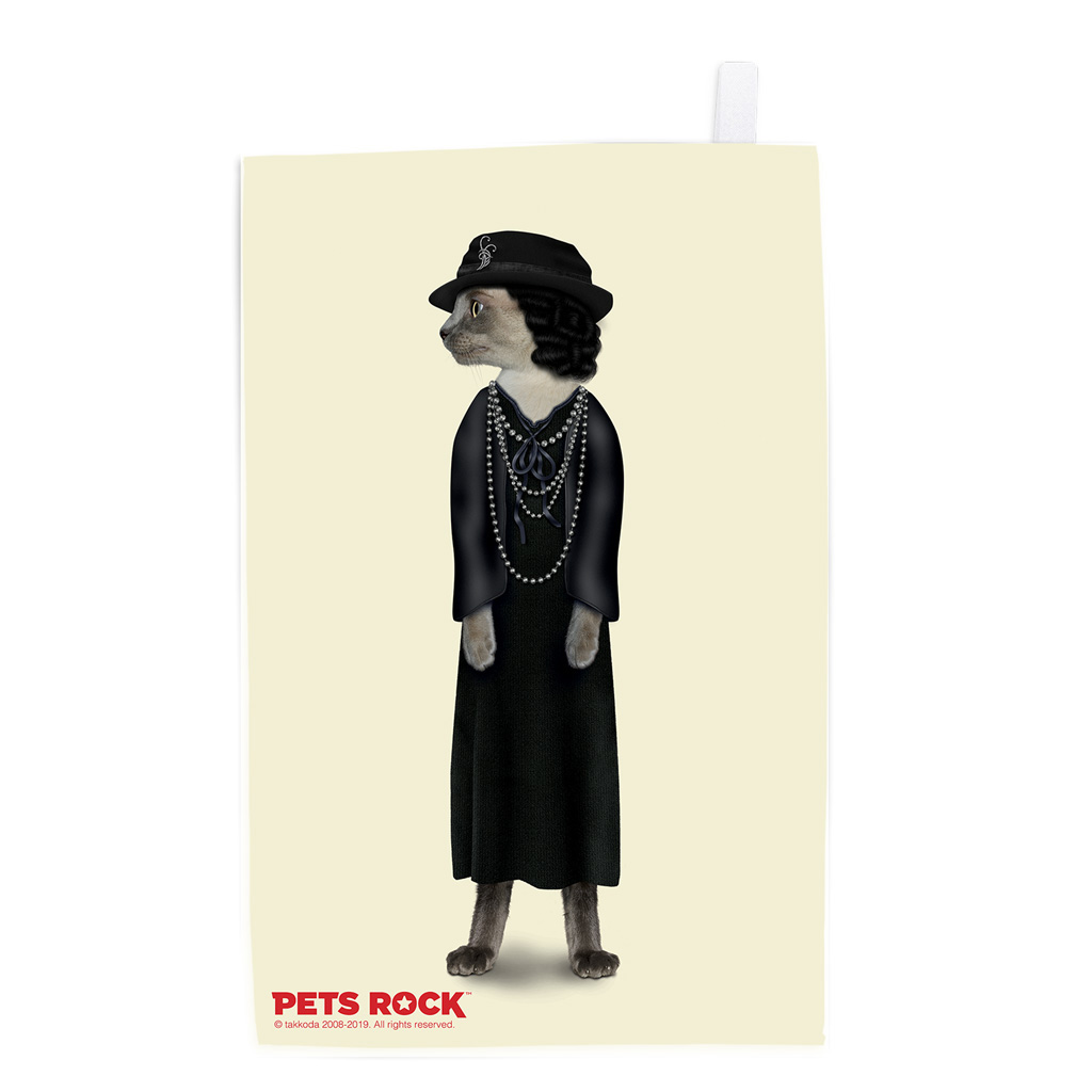 Paris Pets Rock Tea Towel