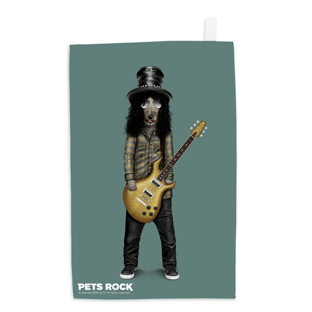 Gnash Pets Rock Tea Towel